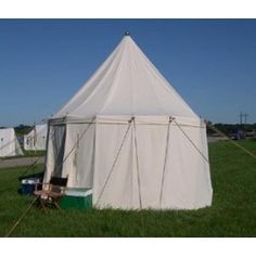 Medieval White Round 12ft diameter 12ft tall.  A much cheaper round pavilion.
