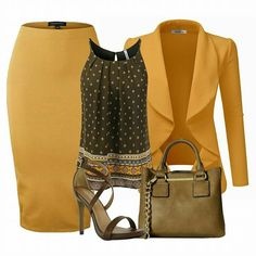Draped Mustard Blazer Source by caitlynngilkes Office Fashion, Work Fashion, Fashion Advice, Fashion Details, Fashion Fashion, Classy Outfits, Chic Outfits, Mein Style, Complete Outfits