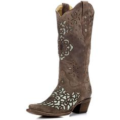 Women's Sand/Blue Laser Inlay Boot A2628 ($259) ❤ liked on Polyvore featuring shoes, boots, western style boots, western boots, blue cowgirl boots, blue boots and blue shoes