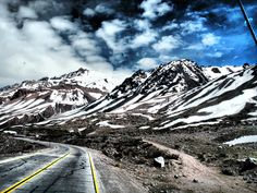 Las montañas Andes- Chile
