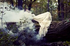 Photo Inspiration: Theme - Color&Water. Smoke, Color Smoke, Water, Lake, Forest, Woods, Nature www.pontiphoto.com