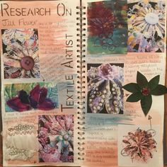 gcse artist research page textiles Sketchbook Layout, Textiles Sketchbook, Gcse Art Sketchbook, Sketchbook Inspiration, Sketchbook Ideas, Artist Research Page, Natural Form Art, A Level Textiles, Flower Artists