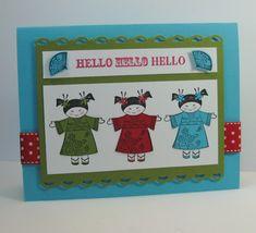 Hello - Kimono Kids! Card - SU - Kimono Kids (by Barb Mann)