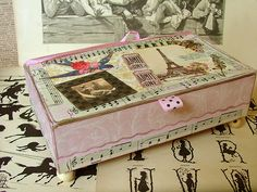 Ordinary cigar box turned into a beautiful place to display even a most prized possession!