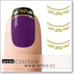 Print On Paper Bags, Water Nails, Nail Decals, Gold Lace, Beauty Hacks, Beauty Tips, French Nails, Love Nails, Nail Designs