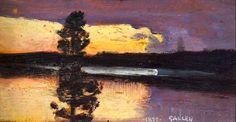 bofransson:  Sunset, 1899 Akseli Gallen-Kallela