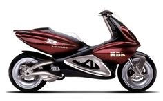 MBK BLACK CRISTAL - concept scooter design Sacha Lakic 1993