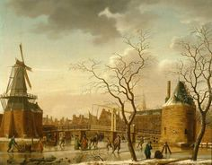 Isaak Ouwater, View of the Cathrijnebrug Across the Noorder Spaarne in Haarlem in the Winter, ca. 1780. Frans Hals Museum