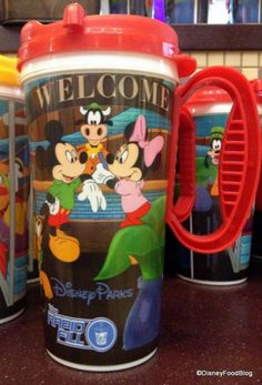 Redesigned Refillable Mugs at Disney World Resorts! Available in 4 different colors! #DisneyWorld #WDW