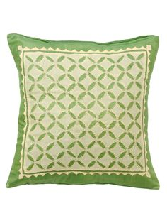 Serenity in Spring Cushion Cover from Celebrate Diwali: Made-in-India Designs by Mela Artisans on Gilt
