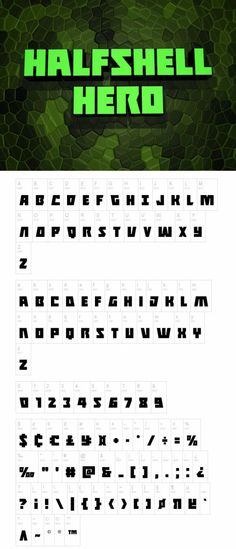 Halfshell Hero Font #FreeFont from http://ortheme.com
