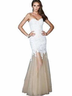 TT2 LACE fishtal Evening Dresses party full length prom gown ball dress robe (8, WHITE) LondonProm http://www.amazon.co.uk/dp/B00KGCG38K/ref=cm_sw_r_pi_dp_NcFStb1859FGGF2X