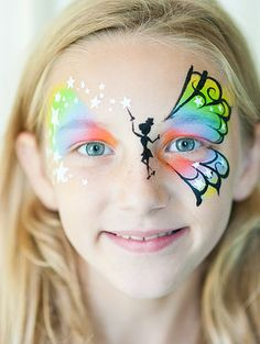 When you think about face painting designs, you probably think about simple kids face painting designs. Many people do not realize that face painting designs go beyond the basic and simple shapes that we see on small children. Princess Face Painting, Girl Face Painting, Belly Painting, Painting For Kids, Face Painting Tutorials, Face Painting Designs, Paint Designs, Butterfly Face Paint, Rainbow Butterfly