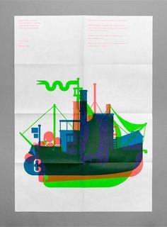 Boats Screen print