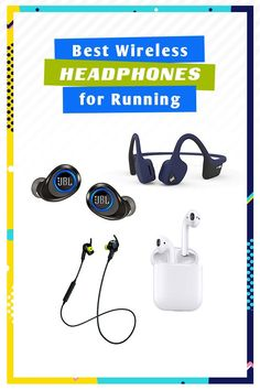 Best running headphones - wireless headphones that stay on and are sweat proof! Best Running Gear, Running Tips, Running Shoes, Beginner Runner Tips, Wireless Headphones For Running, Glute Isolation Workout, Fitness Gifts, Fitness Products, Fitness Wear