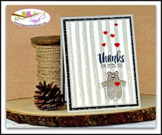 A bear Hug card created with the Bear Hugs Stamps and framelits from Stampin Up www.stampinwithsandi.com