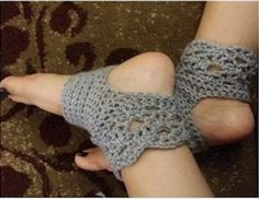 Crochet Yoga Socks Free Pattern Grey