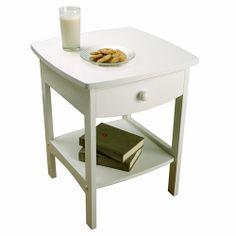 Winsome Wood 10218 - Curved End Table/ Night Stand with One Drawer | Sale Price: $61.63