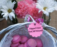 "Dipped Oreos heal all wounds! ""Divorce Party"" theme! 