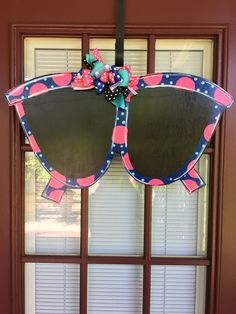 Front Door Decor, Summer Door Hanger, Summer Wreath, Sunglasses Door Hanger