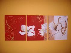 cuadros para cuartos tripticos bonitos y juveniles Flag, Bobs, Home Decor, Art, Paintings Of Flowers, Sweet Home, Board, Decoration Home, Room Decor