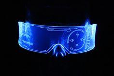 The original Illuminated Cyberpunk Cyber goth visor Iron Man