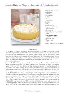 Limetten Cheesecake mit Rhabarber Kompott 1