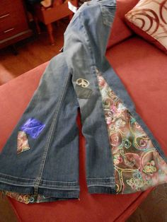 Hippie Jeans Bell Bottom Patchwork Custom Made Free by Robbi314, $49.99