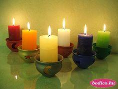 """""""HOLD"""" Gyertya- és mécsestartó Kézzel festett * különféle színekben * (TK: 3024, PÉ: 1,5)  Ár: 850,- Ft Bónuszár: 740,- Ft Hold, Good Night Quotes, Pillar Candles, Night, Candles"""