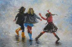 Happy Feet Three Sisters Art Print three by VickieWadeFineArt, $26.00