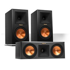 Klipsch RP160M Reference Premiere Monitor Speakers Pair with RP250C Center Channel Speaker Ebony ** Read more reviews of the product by visiting the link on the image.