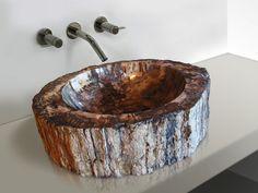 Petrified Wood Vessel Sink.