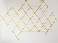 DIY tutorial: Paint an Accent Wall in Diamond Geometric Design  via DaWanda.com
