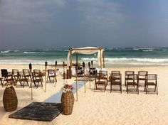 Bamboo theme wedding at Cabanas Tulum
