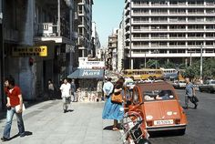 Athens Greece in 1987 Athens Greece, Greek Islands, Times Square, Street View, June, Pictures, Travel, Greek Isles, Photos
