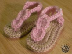 Crochet gladiator baby sandals. Want to learn to make these!!
