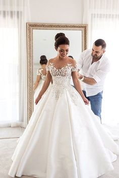 18 Of Our Favorite Steven Khalil Wedding Dresses ❤ Steven Khalil wedding dresses for women who want to be a princess and look splendid. See more: http://www.weddingforward.com/steven-khalil-wedding-dresses/ #wedding #dresses
