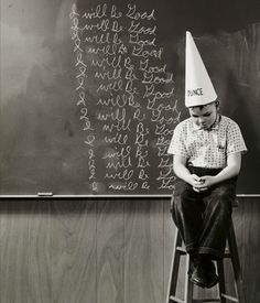 Boy wearing a dunce cap sitting in front of a blackboard Poster Print x Ap Studio Art, Over The Garden Wall, Boys Wear, Blackboards, Hands On Activities, Detailed Image, Photo Library, Popular Culture, Scandal