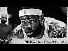 LeBron James 2014 - Tribute and Artwork by Barry Jazz Finnegan