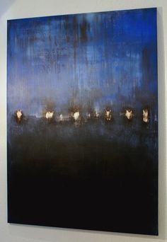 "Saatchi Art Artist: CHRISTIAN HETZEL; Acrylic 2014 Painting ""blue composition"""