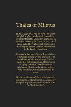 Thales of Miletus (c. 624 - 546 B.C.)