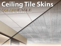 ***************************************************************************** Change the look of your drop ceiling with Ceiling Tile Skins from Golden Eagle Décor and Graphics! *****************************************************************************  Convert your plain old drop ceiling tiles into a gorgeous work of art! At Golden Eagle Décor and Graphics, we give you the ability to do just that! Our specially designed Ceiling Tile Skins allow you to apply a new look to your already…