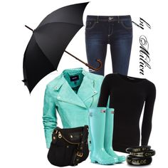 Rain by milica-b3 on Polyvore featuring Dorothy Perkins, Mexx, Hunter, Marc by Marc Jacobs, See by Chloé and Brooks Brothers