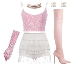 Discover outfit ideas for night out made with the shoplook outfit maker. How to wear ideas for Le Silla - Eva and Chanel White Earrings Kpop Fashion Outfits, Girls Fashion Clothes, Stage Outfits, Girly Outfits, Dance Outfits, Classy Outfits, Stylish Outfits, Barbie Mode, Mode Kpop