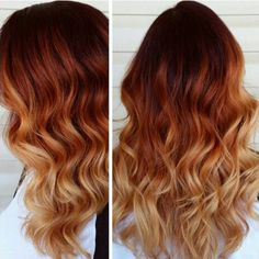 Wonderful Hairstyle of Light Copper Ombre with Dark Roots