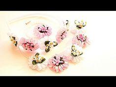 Атласные Цветы Зефирка/ Канзаши Мастер- класс / Цветы из Лент /Flowers of Ribbons - YouTube