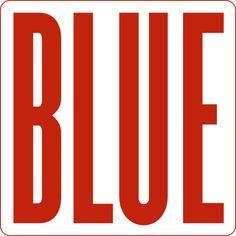 Oriol Pascual  #threefivefifty #05 #sticker #3550 #design #red #blue Stickers, Logos, Red, Blue, Design, Logo, Decals
