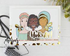 Mama Elephant, Lawn Fawn, Hero Arts, Little Miss, Art Girl, Labels, Bullet Journal, Paper, Cute