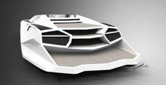 Reinvention V12 powerboat, future watercraft, PROVOCOyachts design studio