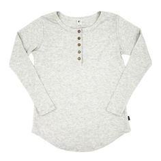 Women's Long Sleeve Henley|HeatherCream/Grey Introducing our new Women's Long Sleeve Henley Shirt in the Ash colourway! This new style features a scoop hem in an extra long length that makes it a perfect pairing for leggings! Your new, go-to cozy outfit! Details: Fabric - 66% Rayon from Bamboo, 28% Cotton, 6% Spande Women's Henley, Henley Shirts, Kids Pajamas, Pajamas Women, Long Sleeve Henley, Ash Color, My Style, Womens Fashion, Leggings